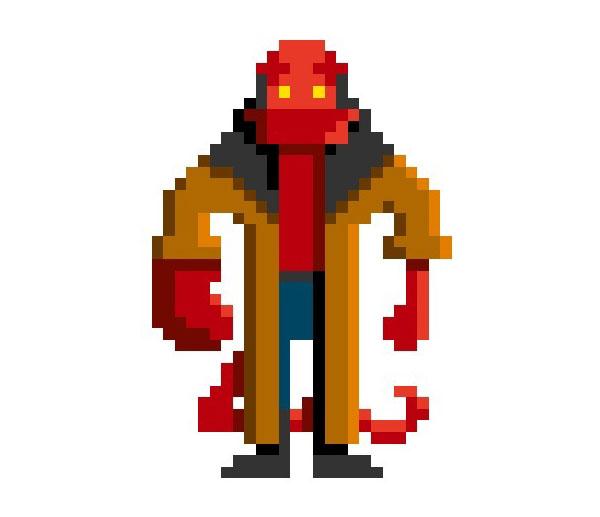 Hellboy-Woman-Pixel-Superheroes-Pahito