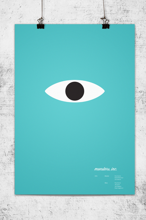 Photo of Affiches minimalistes des héros Pixar par Lee Wonchan