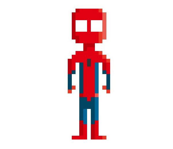 Spiderman-Woman-Pixel-Superheroes-Pahito