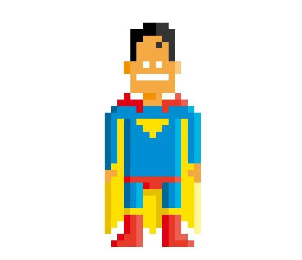 Superman-Woman-Pixel-Superheroes-Pahito