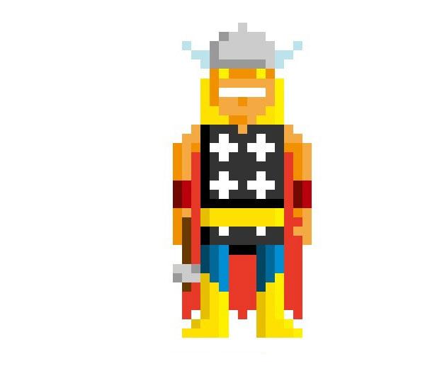 Thor-Woman-Pixel-Superheroes-Pahito
