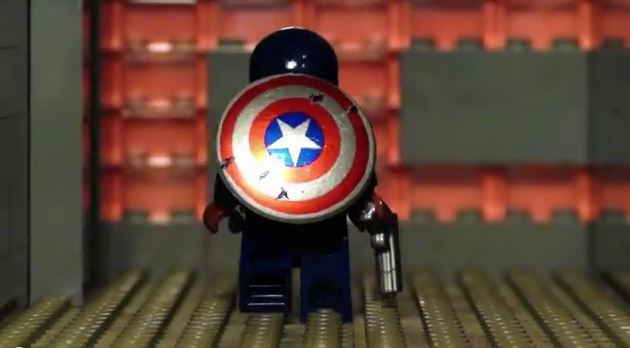 Photo of Captain America version trash en Lego