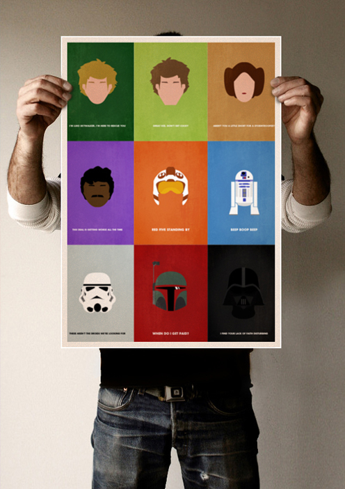 Photo of Star Wars – Portraits minimalistes par Keith Bogan