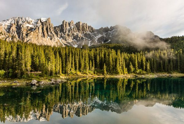 Lago di Carezza in Evening Light