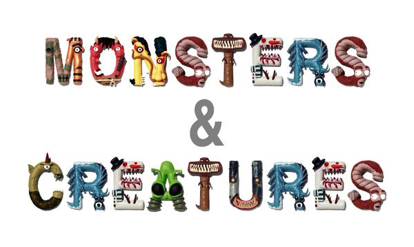 Photo of Typographie spéciale Monstres et créatures par Raku Inoue