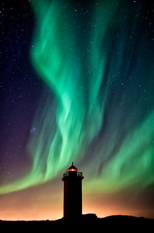 Stafnes Lighthouse & The Aurora