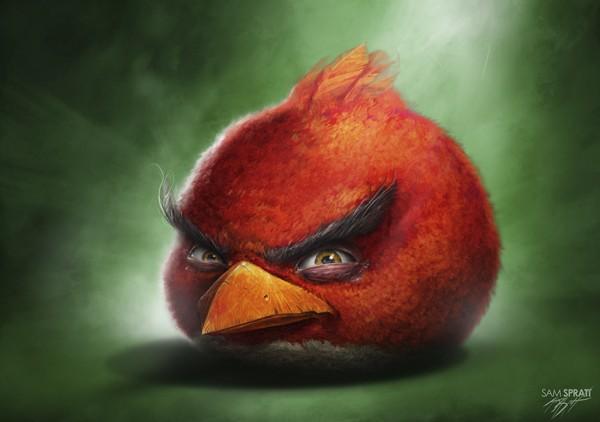 Illustrations d'Angry  Brids par Sam Spratt