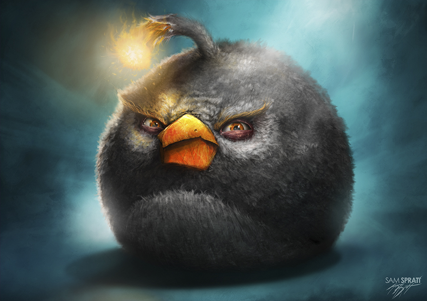 Illustrations d'Angry Brids par Sam Spratt