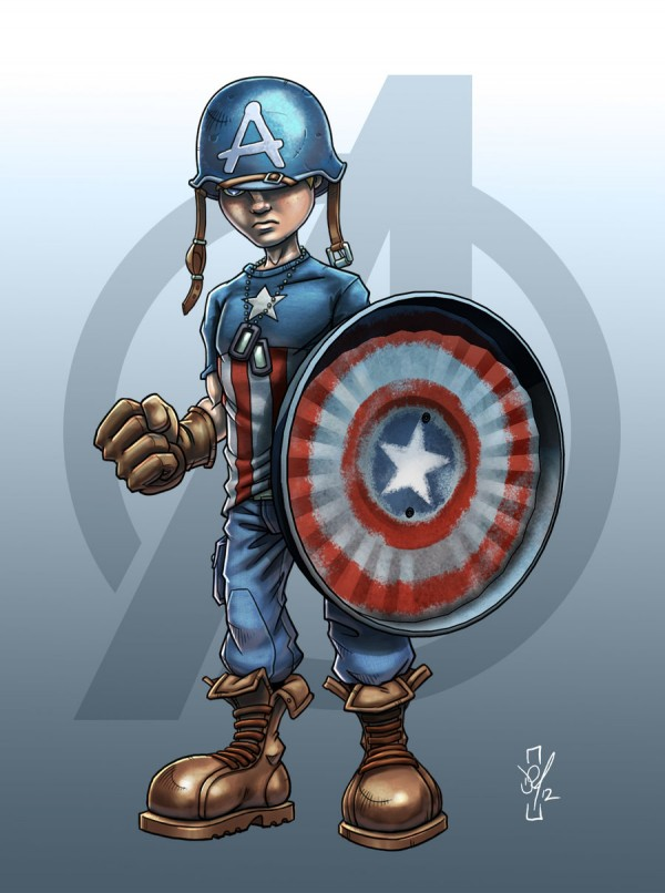 Illustrations des Avengers version enfants par Darren Tibbles