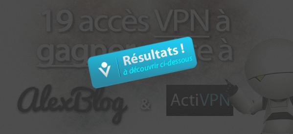 CONCOURS VPN - Résultats
