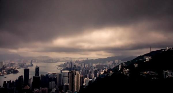 Time lapse de la ville d'Hong Kong