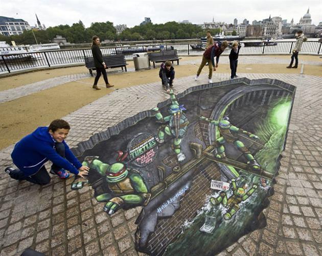 Street Art : Tortue Ninja dans dans les rues de Londres