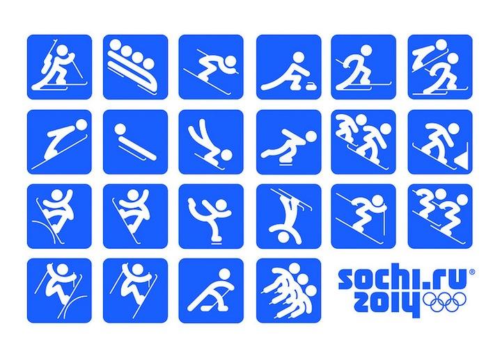 Photo of Les pictogrammes des jeux olympique d'hiver 2014 de Sochi