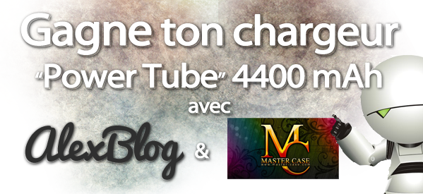 Photo of Concours : viens gagner ton chargeur stylé Power Tube 4400 mAh avec Master Case
