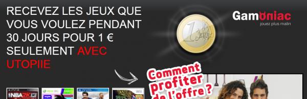 Profitez d'un mois de jeux-vidéo avec Gamoniac pour seulement 1 €
