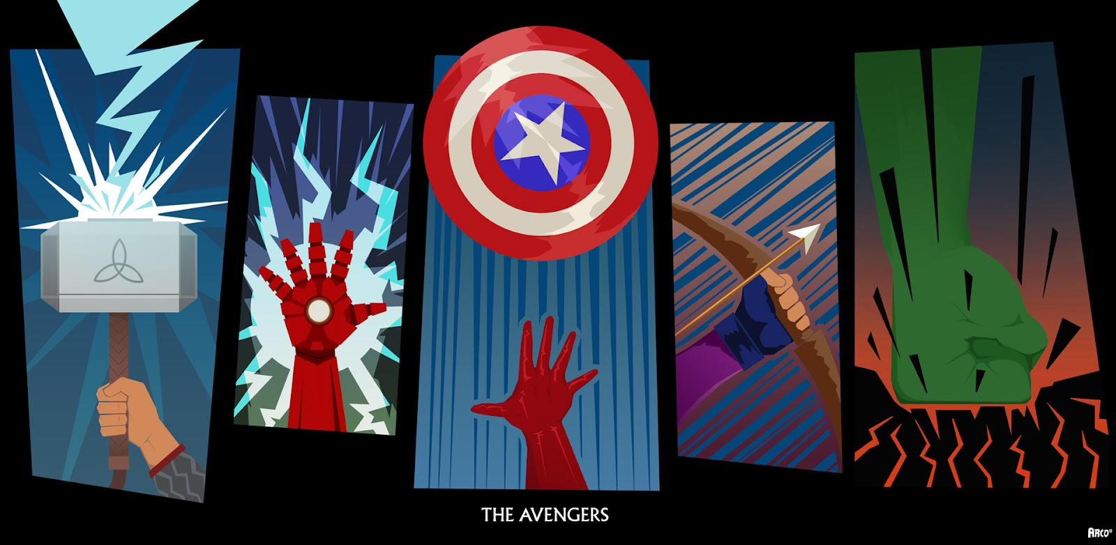 Photo of Les illustrations des super-héros Marvel Avengers de Matt Ferguson