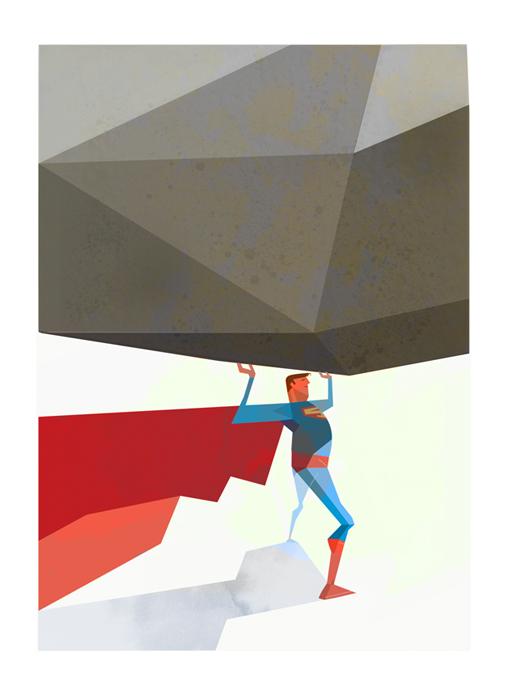 illustrations super heros Robert-M.Ball