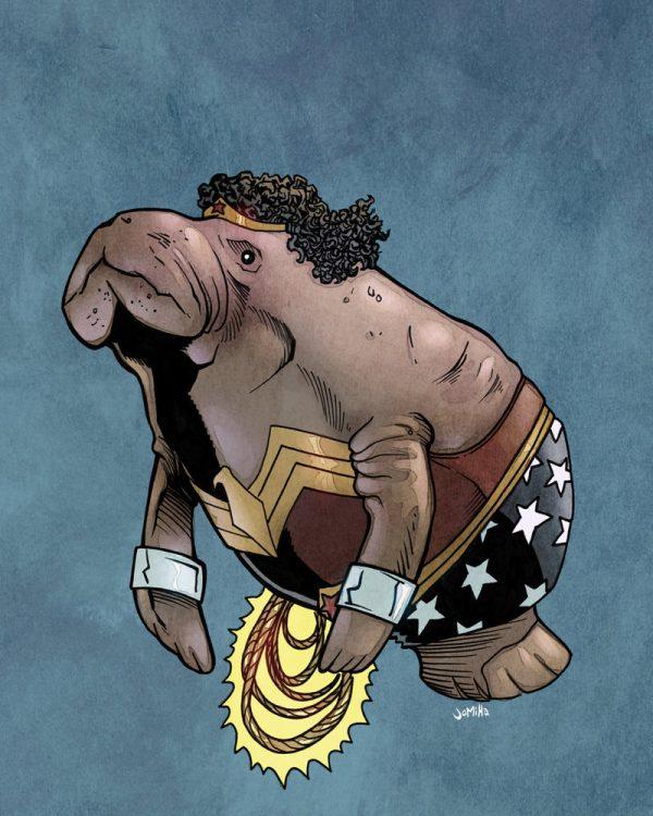 illustrations-super-heros-version-lamantins-Joel-Micah-Harris (9)