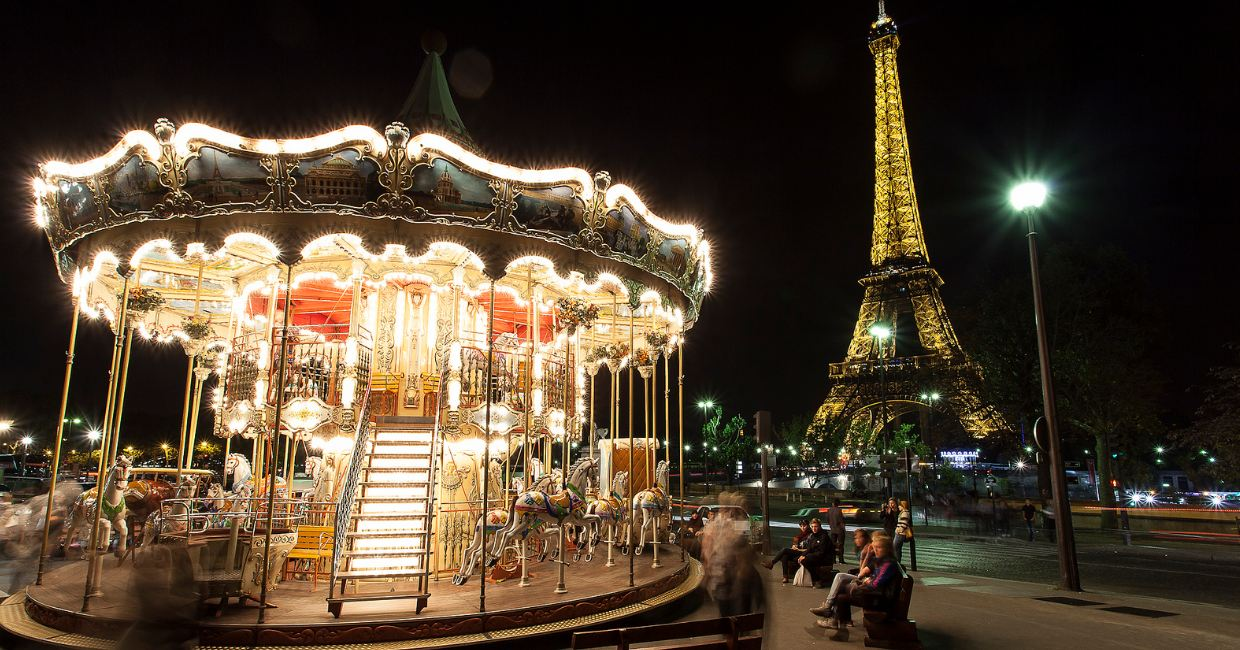 Photo of Paris vue la nuit en time lapse