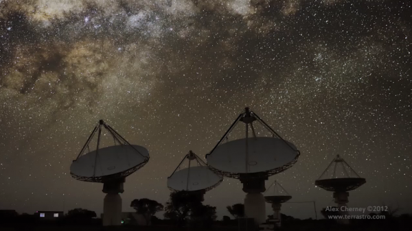 time lapse radiotélescopes ASKAP