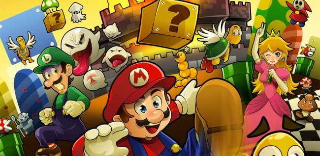 Photo of Illustration fan art sur l'univers de Super Mario