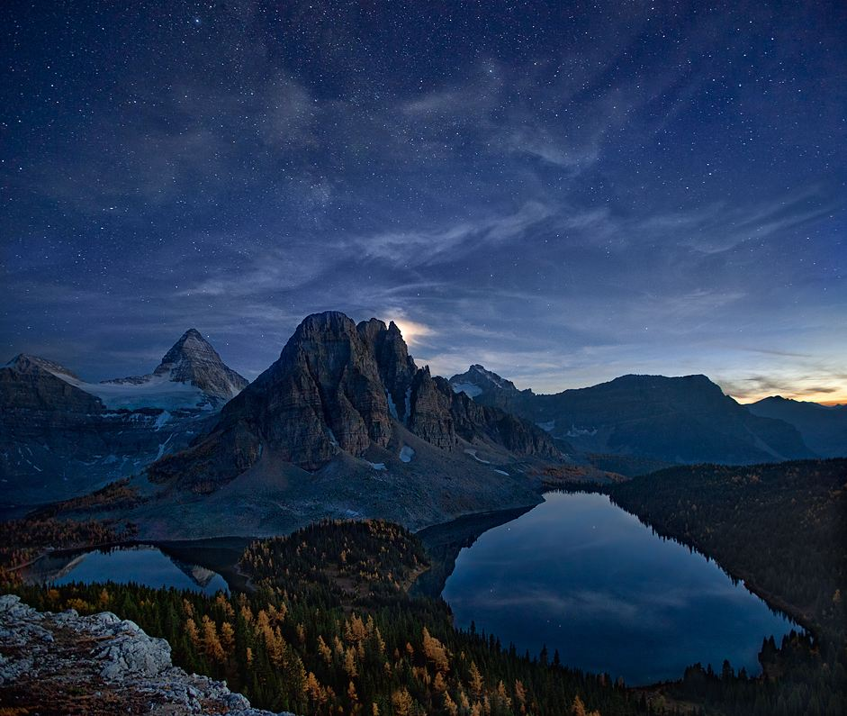 Photo of Photographie du jour #241 : Starry Night at Mount Assiniboine