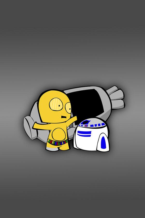 R2D2 &C3PO par Fett Up