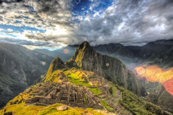 The Sun Sets Over Machu Picchu