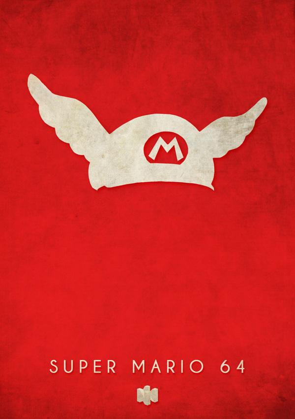 affiches-minialistes-jeux-vidéos-Nintendo 64-Timmy-Burrows  (8)
