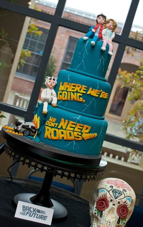 Un gâteau original pour Retour vers le Futur