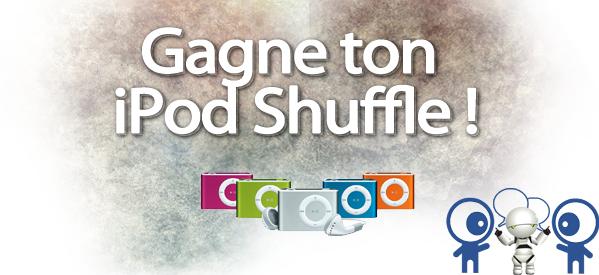 Concours : Viens gagner trois iPod Shuffle grâce à Bazoocam