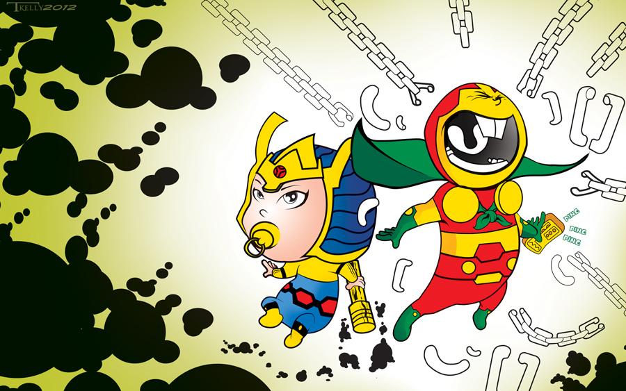 Photo of Les illustrations de super-héros de l'artiste Tom Kelly