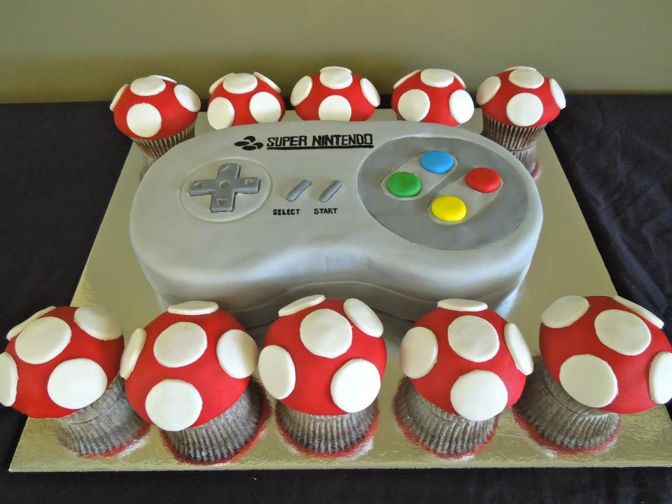Photo of Un gateau Super Nintendo pour Geek