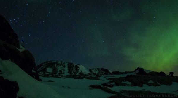 Time lape des Aurora Borealis et des Géminides