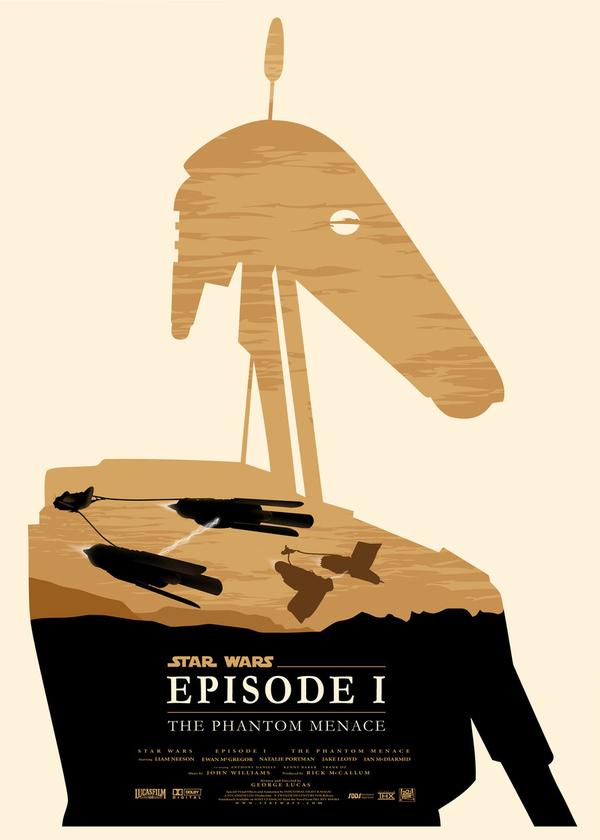 Les affiches minimalistes de la saga Star Wars  par Olly Moss  - I