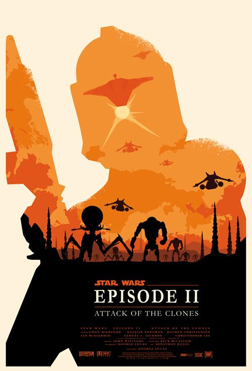 Les affiches minimalistes de la saga Star Wars  par Olly Moss  - II