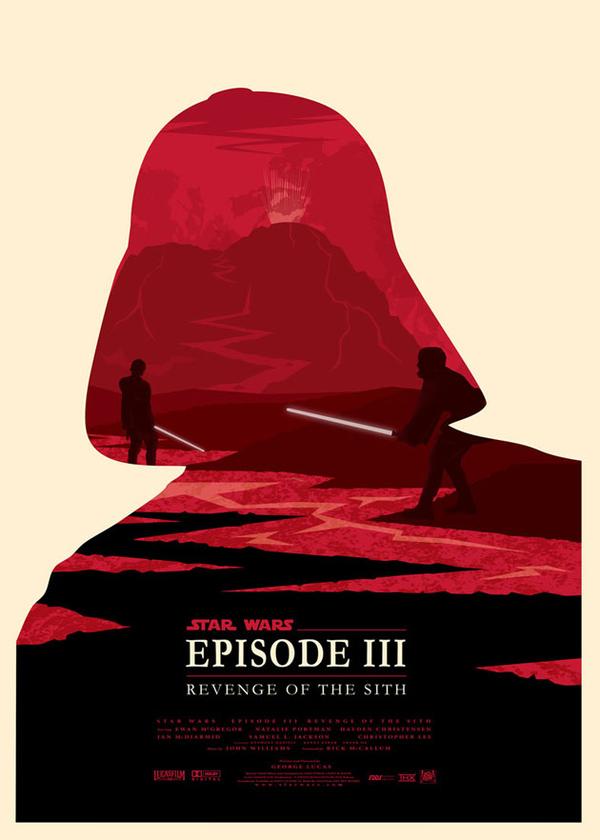 Les affiches minimalistes de la saga Star Wars  par Olly Moss - III