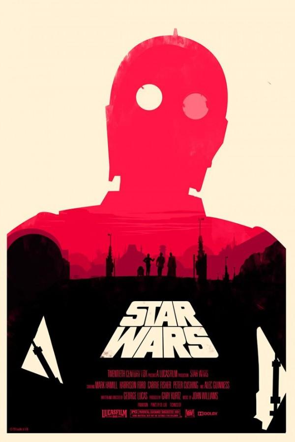 Les affiches minimalistes de la saga Star Wars  par Olly Moss - IV