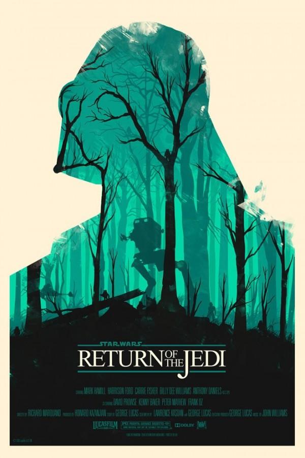 Les affiches minimalistes de la saga Star Wars  par Olly Moss - VI