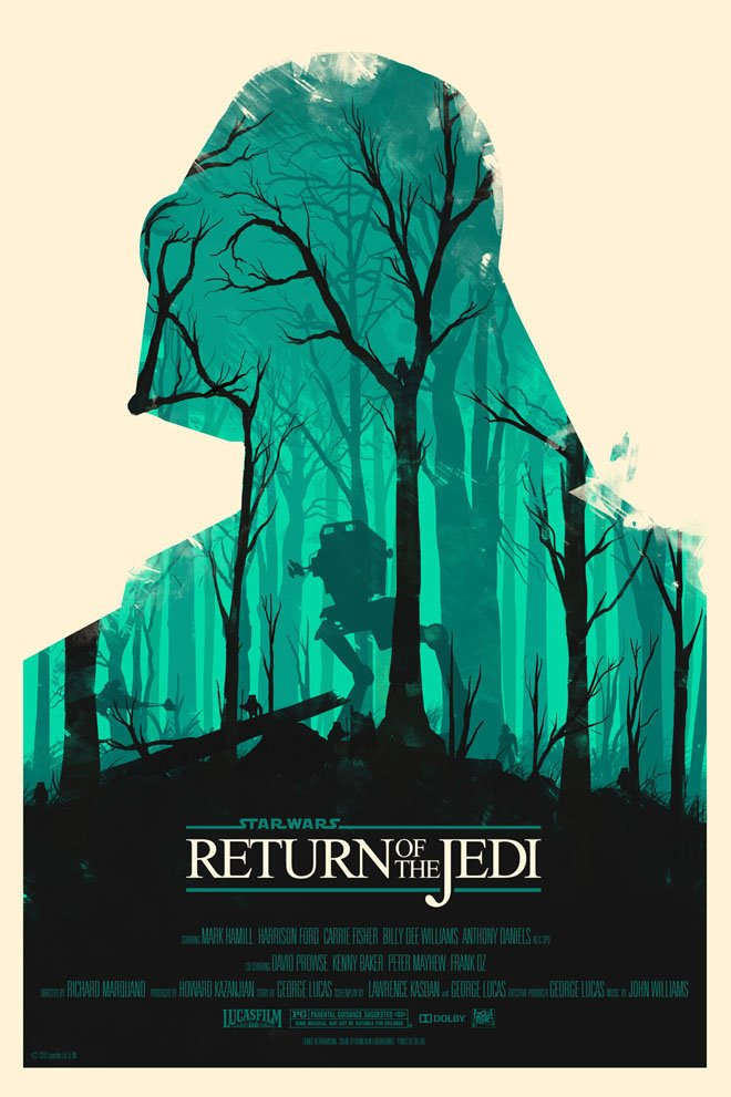 Photo of Les affiches minimalistes de la saga Star Wars par Olly Moss