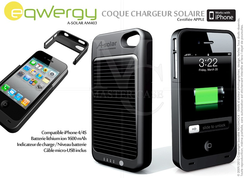 chargeur solaire iphone 5. Black Bedroom Furniture Sets. Home Design Ideas