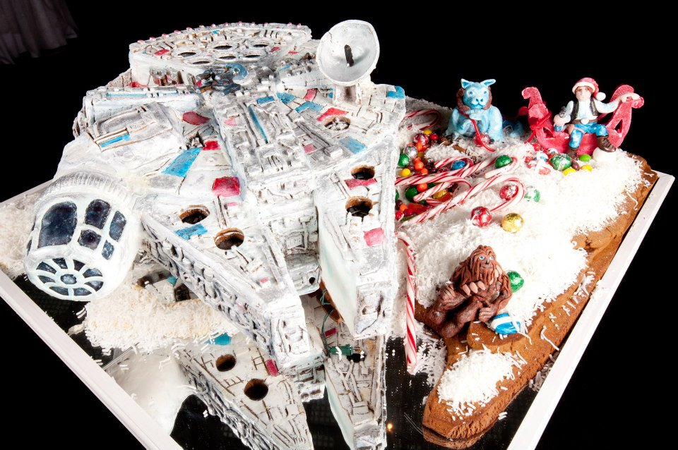 Photo of Un gâteau Star Wars avec un faucon millenium