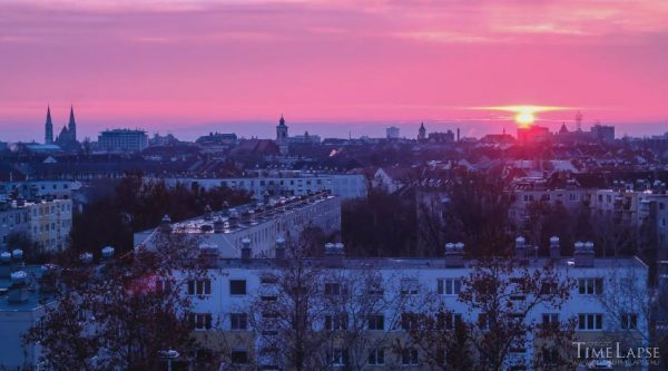 Time lapse de la ville Szeged  - Hongrie