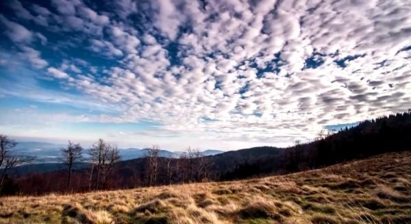 Time lapse de la beauté de la nature de la Pologne