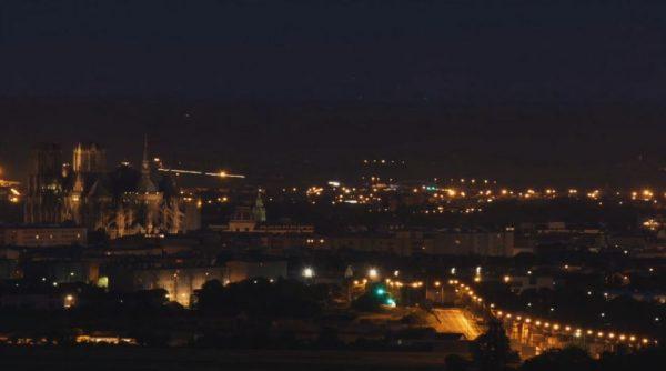 Time lapse de la ville de Reims et de ses alentours