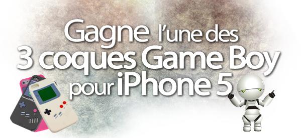 Viens gagner une des 3 coques Game Boy pour iPhone 5 avec Iaxess