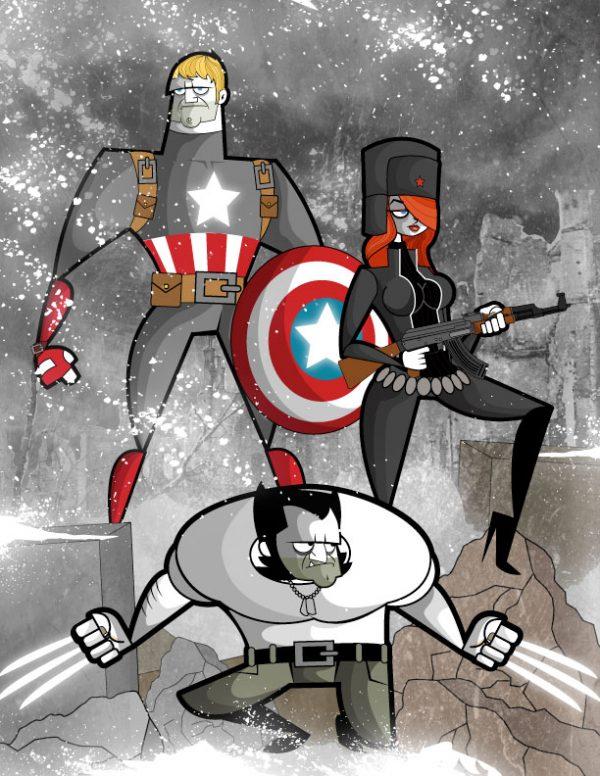 illustrations-cartoons-Ben Camberos-kungfumonkey (8)