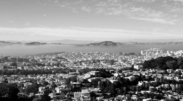 Time lapse de San Francisco en N&B