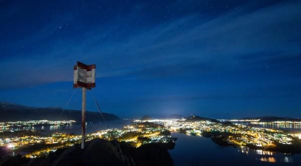 Time lapse de la ville d'Ålesund  - Norvège