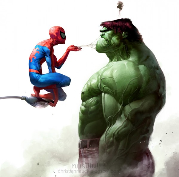 Les illustrations de super-héros de l'artiste Christian Nauck